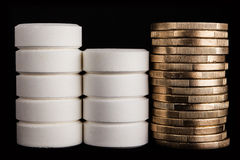 Medicin och pengar Arkivfoton