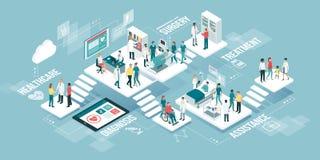 Medicin och sjukvård vektor illustrationer