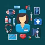 Medicin och sjukvård stock illustrationer