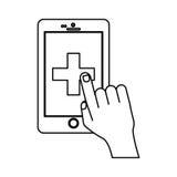 Medicin och teknologi royaltyfri illustrationer