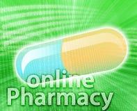 medicin online royaltyfri illustrationer