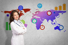 Medicin på en global skala Arkivbilder