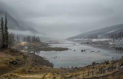 Medicin sjö, Jasper Alberta Arkivbilder