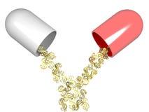 A medicina é dinheiro Fotos de Stock Royalty Free