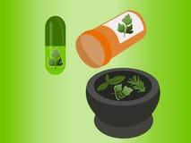 Medicina alternativa do vetor Foto de Stock