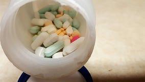 medicina assortita di prescrizione delle pillole in bottiglia Fotografia Stock