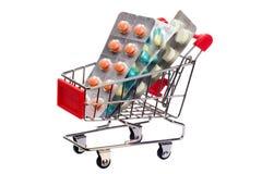 Medicina in carrello Immagini Stock