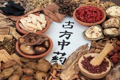 Medicina china antigua tradicional Fotos de archivo libres de regalías