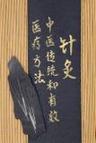Medicina china de la acupuntura Imagen de archivo libre de regalías