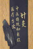 Medicina cinese di agopuntura Immagine Stock Libera da Diritti