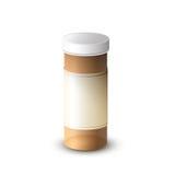 Medicina clara da garrafa da proteção Imagens de Stock