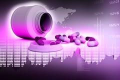 Medicina com gráfico Imagens de Stock Royalty Free