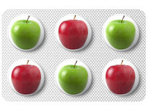 Medicina con la manzana foto de archivo
