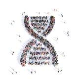 Medicina 3d do ADN dos povos Fotografia de Stock