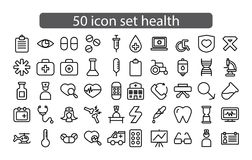 Medicina da cenografia do ícone e vetor da saúde foto de stock royalty free