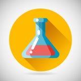 A medicina da cura no ícone do frasco do tubo cura o tratamento Fotos de Stock Royalty Free