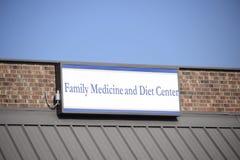 Medicina de família e centro da dieta Imagem de Stock