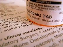 Medicina de la prescripción Foto de archivo libre de regalías