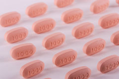 Medicina de la prescripción en filas. Imágenes de archivo libres de regalías