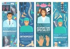 Medicina de la reumatología, ortopédica y del traumatology stock de ilustración