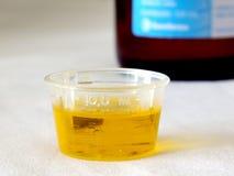 Medicina de la tos Foto de archivo libre de regalías