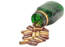 Medicina de las píldoras de las cápsulas Fotos de archivo