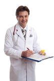 Medicina del expediente de salud del doctor fotos de archivo