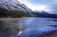 Medicina del lago, canadese Montagne Rocciose Fotografia Stock Libera da Diritti