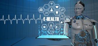 Medicina del robot del futuro royalty illustrazione gratis