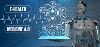 Medicina del robot del futuro illustrazione di stock