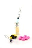 Medicina della siringa Immagine Stock