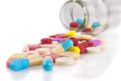 Medicina derramada Foto de Stock Royalty Free