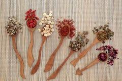 Medicina di erbe cinese Fotografia Stock