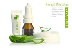 Medicina di erbe di vera dell'aloe Immagine Stock