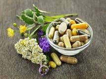 Medicina di erbe ed erbe Fotografia Stock Libera da Diritti