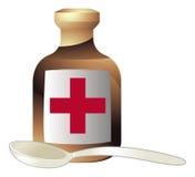 Medicina e colher ilustração royalty free