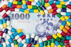 Medicina e dinheiro Fotos de Stock Royalty Free