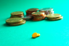 Medicina e soldi Fotografie Stock
