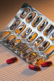 Medicina - elimine o empacotamento das drogas Fotografia de Stock Royalty Free
