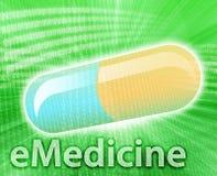 Medicina em linha Fotografia de Stock Royalty Free
