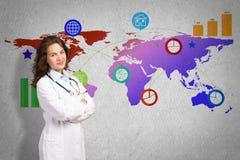 Medicina em uma escala global Imagem de Stock