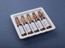 Medicina en ampolla Imágenes de archivo libres de regalías