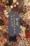 Medicina erval chinesa Foto de Stock