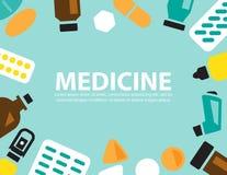 Medicina, fondo del vector Foto de archivo