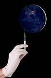 Medicina global, concepto de la acción Imagen de archivo libre de regalías