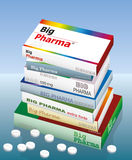 Medicina grande de Pharma Imágenes de archivo libres de regalías