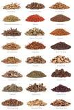 Medicina herbaria china con títulos Foto de archivo libre de regalías