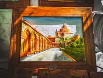 San Luca Bologna painting - Italy Royalty Free Stock Photos