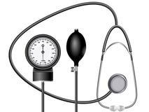Medicina l'unità un tonometer Fotografia Stock Libera da Diritti
