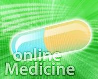 Medicina in linea Fotografia Stock Libera da Diritti